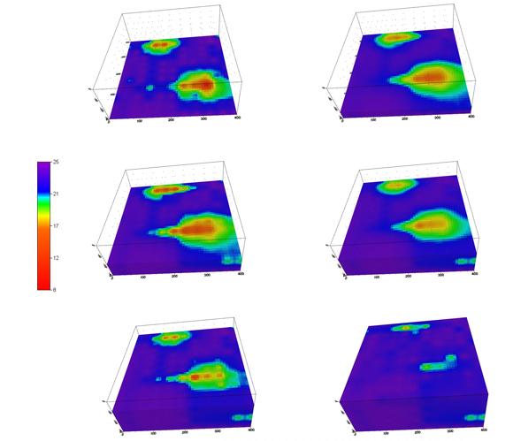 Пример 3D-представлений результатов геофизических исследований.